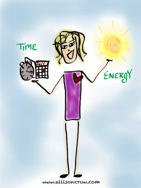 Manage Energy instead of Time By Allison Crow+