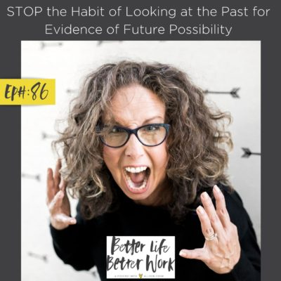 STOP the Habit of Looking at the Past for Evidence of Future Possibility