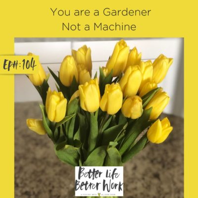 You are a Gardener Not a Machine