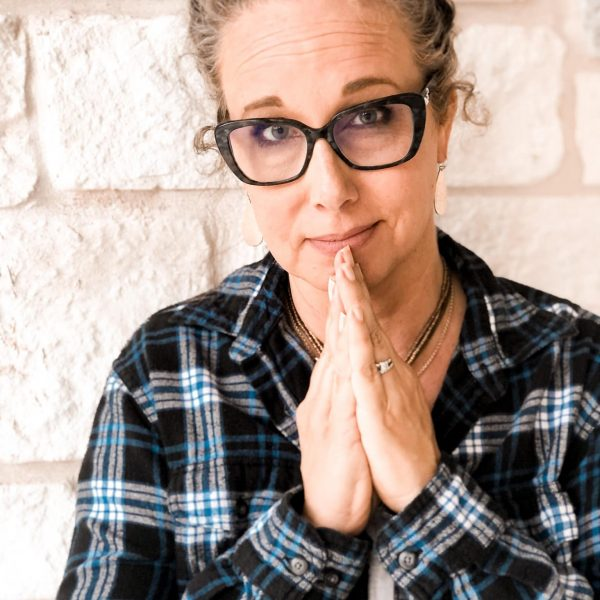 Allison Prayer hands flannel shirt